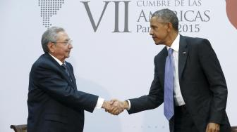 Obama-Castro Cumbre Panamá